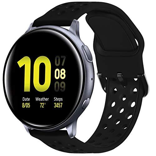 KADES - Correa de repuesto para reloj Samsung Active 2, 20 mm, silicona suave, con pin de liberación rápida para Galaxy Watch Smartwatch 42 mm, Galaxy Watch Active 40 mm 44 mm