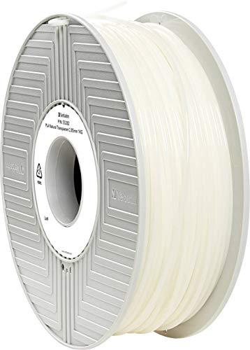 Verbatim PLA filament - 3D Printing Material, 2.85mm, 1kg, natural transparent
