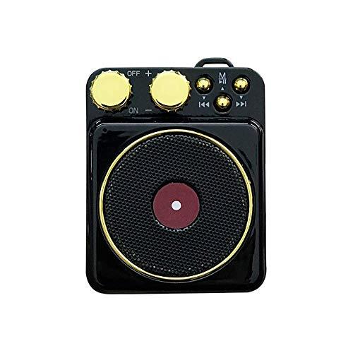 Mini tragbarer Lautsprecher, Plattenspieler für Vinyl mit Bluetooth, Creative Retro Card Atomic Plattenspieler, Player, Subwoofer, Grün