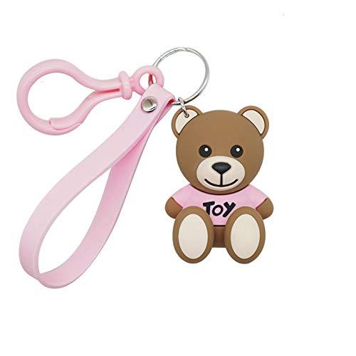 Jfsmgs Couple Keychains Cartoon String Bear Keychain Pendant Creative Cute Cartoon Glue Doll Keychains For Men Women Key Chain Car Key Ring Kid Gift Toy (Color : 2)