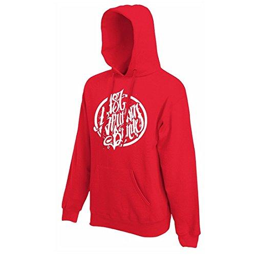 187 Straßenbande - Logo Hoodie rot/weiß (M)