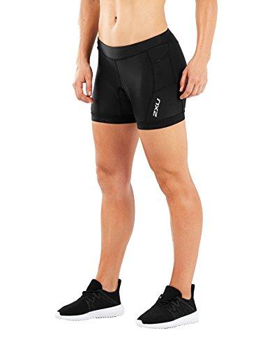 "2XU Womens Active 4.5"" Tri Short, Black/Black, Small"