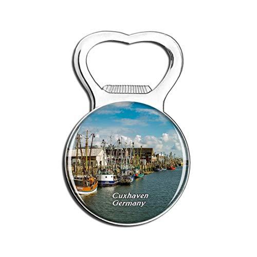 Weekino Cuxhaven Port Deutschland Bier Flaschenöffner Kühlschrank Magnet Metall Souvenir Reise Gift