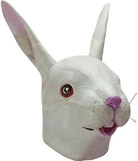 Coniglio bianco testa maschera in gomma CONIGLI Testa Costume Costume di Scena