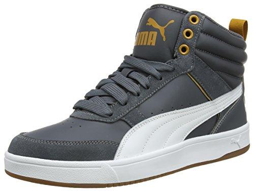 Puma Rebound Street V2 - Sneaker a Collo Alto Unisex Adulto, Nero (Iron Gate-Puma White-Buckthorn Brown 08), 46 EU