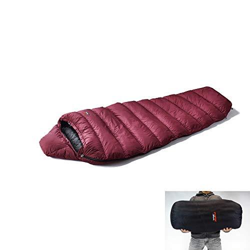 NANGA(ナンガ) 寝袋 アウトレット訳ありダウンシュラフ350STDレギュラー(ゆったりラクラク保管バッグ付き) 下限温度0度 プラム 右ジッパー