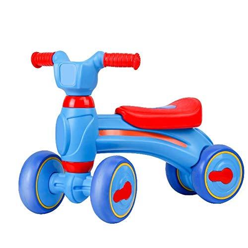 Caimei - Balanza para bicicleta (18 a 48 meses, sin pedal, para alimentos, 4 ruedas, juguetes para todos los pequeños, báscula de entrenamiento, primer regalo de cumpleaños (color C), B