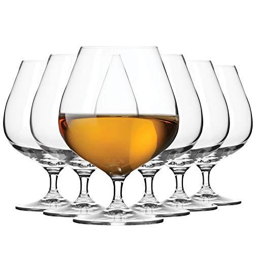 Krosno Copas Coñac Brandy Helado Postre Balon Vaso | Conjunto 6 Piezas | 500 ML | Elite Collection Uso en Casa, Restaurante y en Fiestas | Apto para Microondas y Lavavajillas