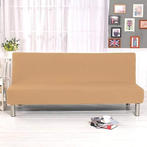 Knowled - Funda para sofá sin Brazos, Color sólido, Todo Incluido, Plegable, Funda Protectora para sofá o Cama, sin reposabrazos, se Adapta a sofás y Camas Plegables