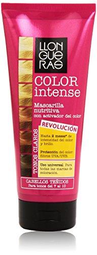 Llongueras - Color intense tonos del 7 al 10 - Mascarilla nutritiva con activador del color para cabellos teñidos - 200 ml