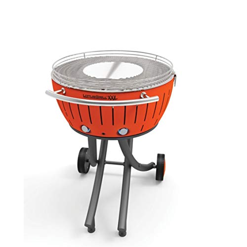 Lotusgrill LOLG-TB-600 Rauchfreier Grill, Orange, 78x78x48 cm