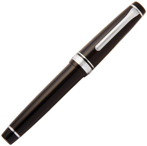 セーラー万年筆 万年筆 プロフェッショナルギア 銀 ブラック 細字 11-2037-220
