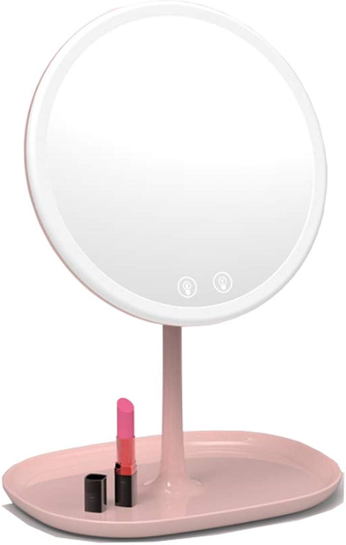 LED-Ladespiegel Mit Lichter Schlafsaal Schreibtisch Folding Princess Desktop Mirrors