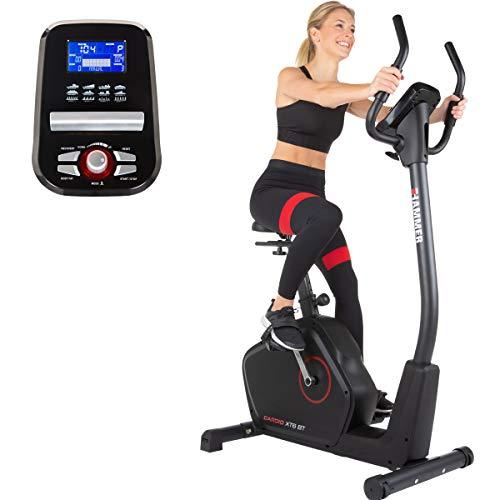 HAMMER Ergometer Cardio XT6 BT, leises Fitnessfahrrad mit tiefem...