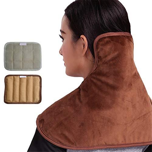 Luckylj Hot & Cold Hals & Schulter Plüsch Wrap Pad, 5 Temperatureinstellungen, Für Nacken- Und Gebärmutterhalsschmerzen, Wärmetherapie-Halskrause, Warm Halten