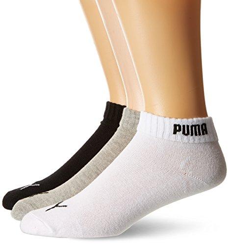 Puma Promotion-sport Calzini Uomo Confezione da 6 pezzi Multicolore (Noir/Blanc/Gris) 43-46