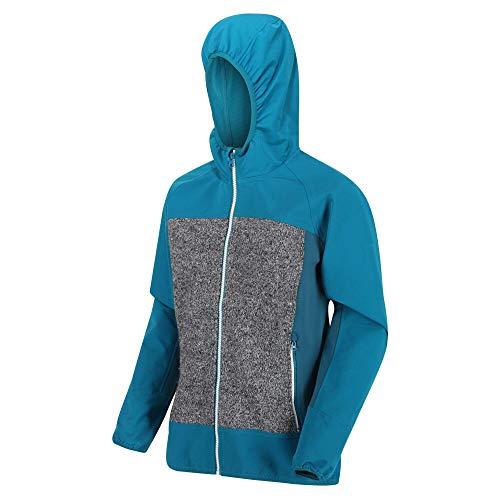 Regatta Women's GARN Damen Softshelljacke mit Kapuze, Stretch und Winddicht, Soft Shell, Ocean Depth/Ash, FR: M (Größe Hersteller: 14)