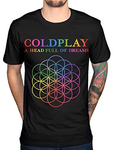 Coldplay A Head Full of Dreams Mens Black Cotton Top T-Shirt Tee