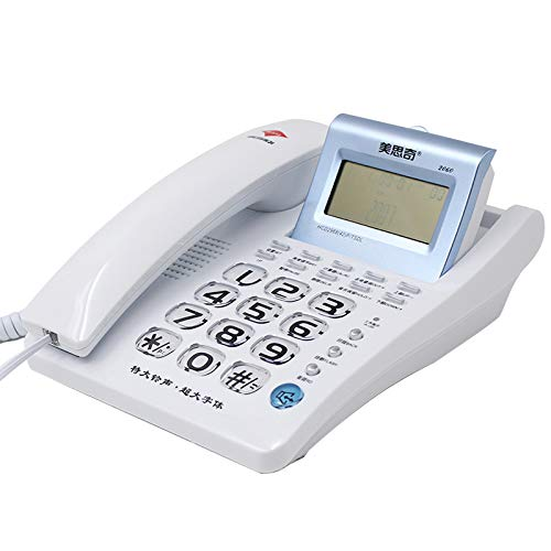 AODXI vaste telefoon kantoor thuis hotel telefoon met kabel handsfree bellen bellen bellen scherm zilver kleur vergroot knop extra groot, Regulable