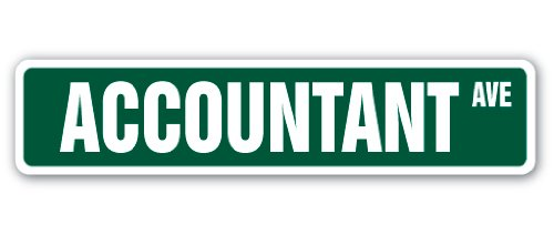 "Accountant Street Sign Decal Math Bean Counter Count CPA | Indoor/Outdoor |  18"" Wide"