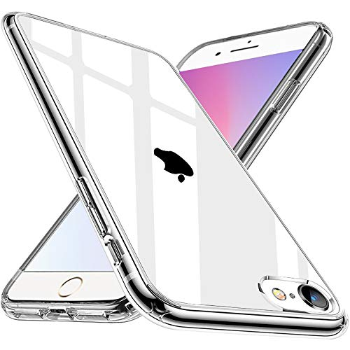 Wlife Crystal Clear Kompatibel mit iPhone 6 iPhone 6S Hülle, Transparent Stoßfest Anti-Gelb Anti-Kratzer Dünn Handyhülle Slim PC mit TPU Silikon Rahmen Durchsichtige Schutzhülle iPhone 6/6S Case