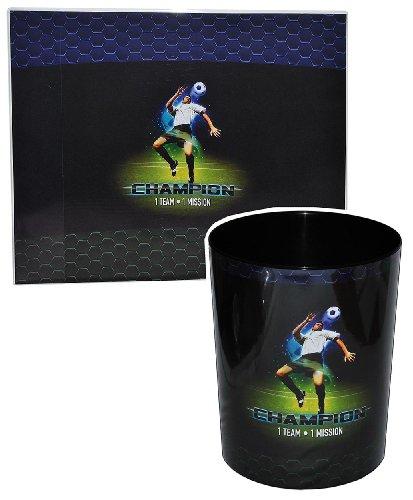 alles-meine.de GmbH 2 TLG. Set: Schreibtischunterlage + Papierkorb Fussball - Unterlage / Knetunterlage / Tischunterlage für Jungen Kinder Fußball Champion Sport