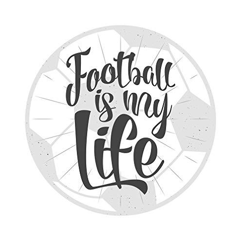 dekodino® Sticker mural football is my life sport déco