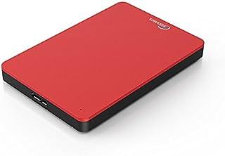 Sonnics 1TB Rosso hard disk esterno portatile USB 3.0 Super velocità di trasferimento per uso con Windows PC, Apple Mac, X...