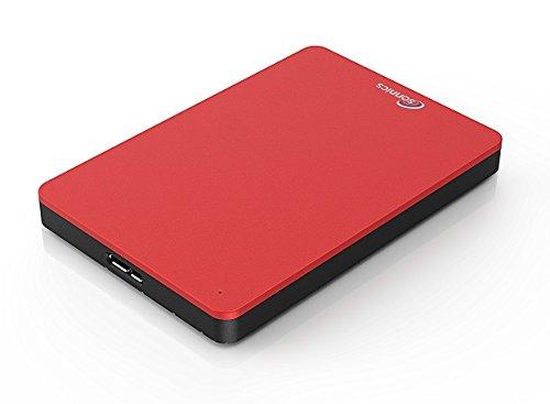 Sonnics 500GB Rosso hard disk esterno portatile USB 3.0 Super velocità di trasferimento per uso con Windows PC, Apple Mac, Xbox One e PS4