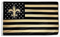 WHGJ New Orleans Saints NFL 3x5 FT Flag Fade Resistant Super Bowl Stars and Stripes Indoor/Outdoor Sports Banner