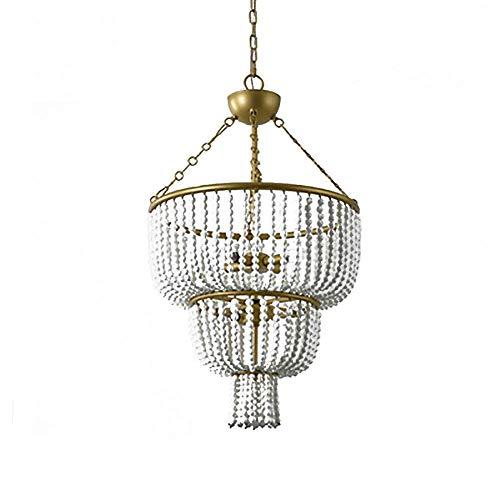 Candelabros de cuentas de cerámica 6 luces retro vintage de madera y...