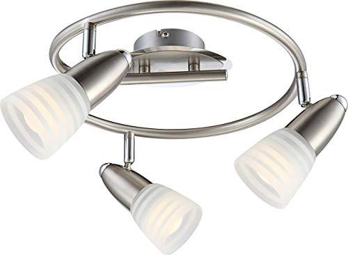Globo Caleb LED-Deckenleuchte, E14, 4 W, Chrom/Nickel, matt