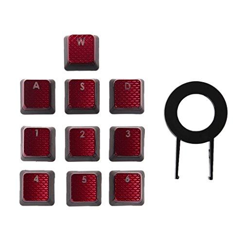 JUNESUN 10 Teile/Paket Tastenkappen für Corsair K70 K65 K95 G710 RGB Strafe Mechanische Tastatur