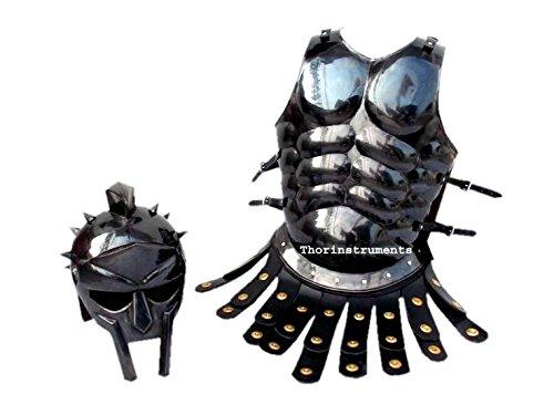 THORINSTRUMENTS Thor Instruments.Co Mittelalterliche römische Rüstung Spartan-Kostüm, Muskeljacke, Antik-Finish