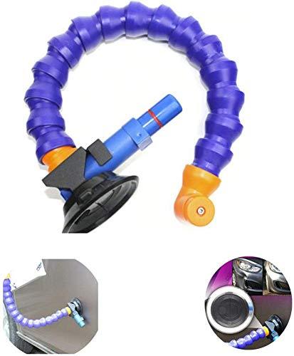 Tongyundacheng 45cm Flexible Luftpumpe Dellenreparatur - 360 ° Hochleistungs-Handsaugnapf Auto-Nivellierwerkzeug Mit Schwanenhalsrohr