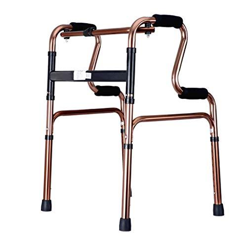 Giow Rollator Medical Gehhilfe zum Zusammenklappen Leichtgewicht-Gehhilfe, höhenverstellbar für ältere Menschen, Senioren, Behinderte, max. 180 kg