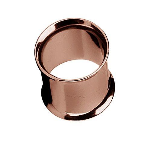 Taffstyle Túnel dilatador para la oreja, de acero inoxidable, con cierre de rosca doble, 10 mm, color marrón