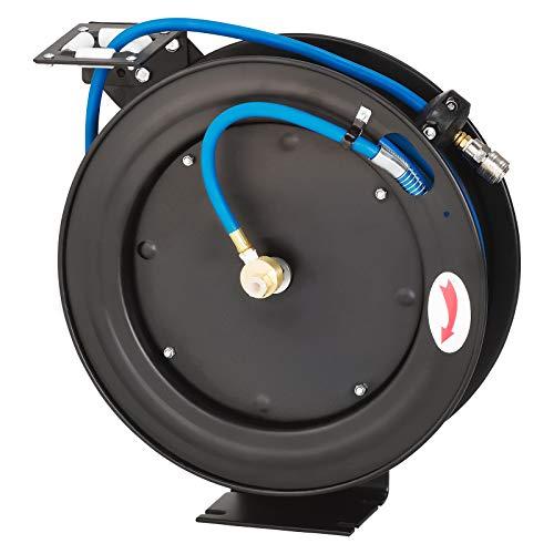 KRAFTPLUS K.985-8415 - Enrollador automático para manguera de aire comprimido (15 m,...