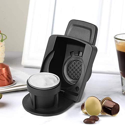 Honeyhouse Kapseladapter für Nespresso-Originalkapseln, wiederverwendbarer Kaffeepads-Adapter Edelstahl-Konverterhalter für Espresso-Kapseln Kompatibel mit Dolce Gusto Crema Maker