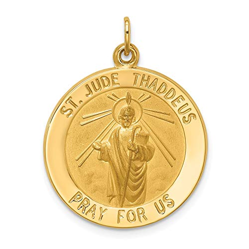 Patron Saint of Desperate Situations F A Dumont 14kt Gold St Jude Thaddeus Medal