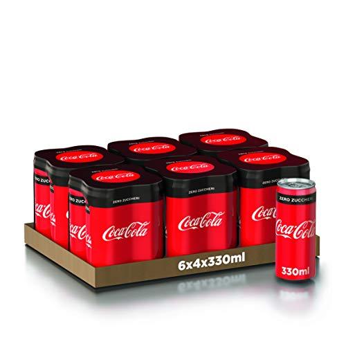 Coca-Cola Zero, 330ml 6x4 (Lattina)