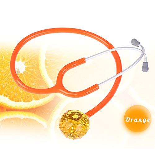 Honey Stethoskop, Kristallstethoskop, Brillante Farbe, Guter Leitungseffekt, 6 Farben Erhältlich,orange
