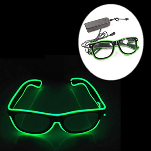Light Up Neon Sunglasses with Four Modes. Just add 2 AA batteries. Choice of Colours