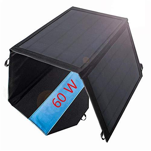 Los paneles solares plegados portátiles de 18 V 60W, el cargador solar plegable dual USB USB 5V DC puerto, adecuado para acampar, teléfonos móviles y potencia móvil de carga rápida-18v 60w