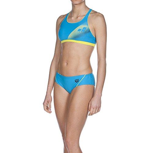 arena Damen Schwimmbikini Espy, Turquoise/Soft Green/Black, 42, 2A129