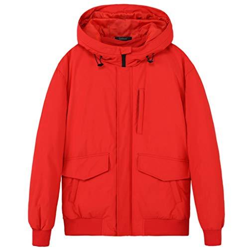 Heren jas Down Youth Hooded Winter Jacket White Duck Down Jacket herfst en winter Warme jas Large Pocket Design