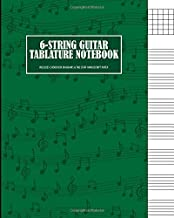 6 String Guitar Tablature Notebook: Chord Box Diagrams and Tab Staff Manuscript Paper (8x10 in. Guitar Sheet Music Series)