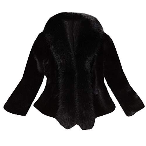 Damen Faux Pelzmantel MEIbax Frauen Elegante Dicke warme Kunstpelz Kurz Coat Fake Fur Jacket Plüschjacke Cardigan Fleecemantel