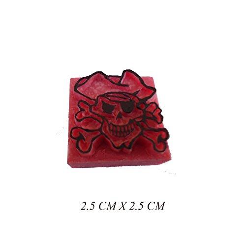 Pierre Tatouage Temporaire Ephémère Magic Tattoo- Pirate 2.5 cmx 2.5 cm (pierre seule sans le kit encre)
