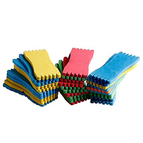 QINXI 10 Pcs Fish Winding Storage Boards Fishing Line String Coil Foam Sponge Board Wrapped Wire Leader Winding Fishing Tackle Box Accessories (Random Color)